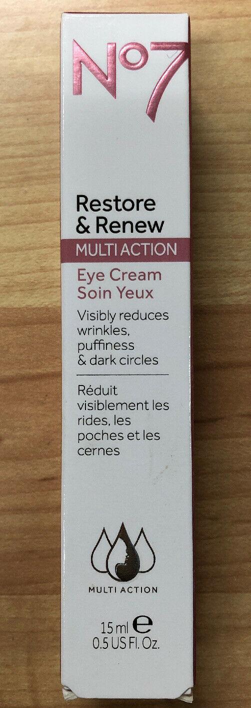 No7 Restore Renew Multi Action Eye Cream 15 mL 0.5 fl oz Fresh Unisex 2021 - $27.02