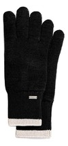 COACH COLORBLOCKED KNIT TECH GLOVES BLACK - $64.35