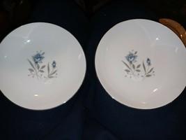 "Royal Taunton BLUE ROSE 5.5"" Dessert Bowls set of 2, Fine China Japan - $19.79"