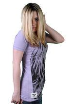 Cardboard Robot Buono Testa Donna Lilla Viola T-shirt Con Scollo A V Piccolo Nwt image 3