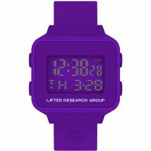 LRG Soulevé Recherche Groupe Violet Numérique LCD Arbre Montre Neuf en Boite