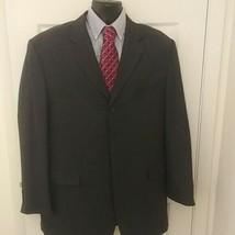 Stacy Adams Black Striped Suit Jacket Blazer MENS SIZE 44 long - $27.72