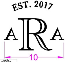 Custom made brand for Anna and Aaron - $200.00
