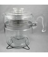 Pyrex Flameware Percolator 9 cup Coffee Pot 7759 Complete w/ Heat Spreader Grid - $89.05