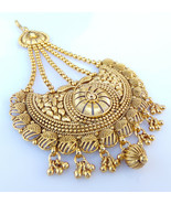 Women Head Accessories Indian Bridal Tikka Paasa Jewelry Golden Kundan J... - $27.08