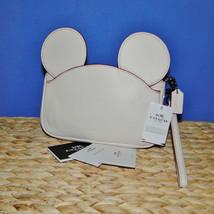Coach X Disney Mickey Ears Leather Wristlet Ltd Edition Collection Chalk image 2