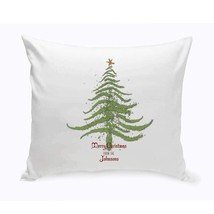 Personalized Vintage Christmas Throw Pillow - All - £24.07 GBP