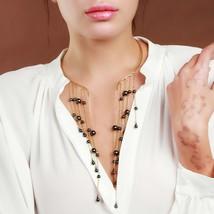 Black Beads Trendy Long Tassel Choker Necklace 2019 Women Fashion Specia... - $13.25