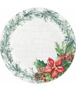 "Nature's Gift 45 Ct 7"" Dessert Plates Value Pack Winter Poinsettia - $11.97"