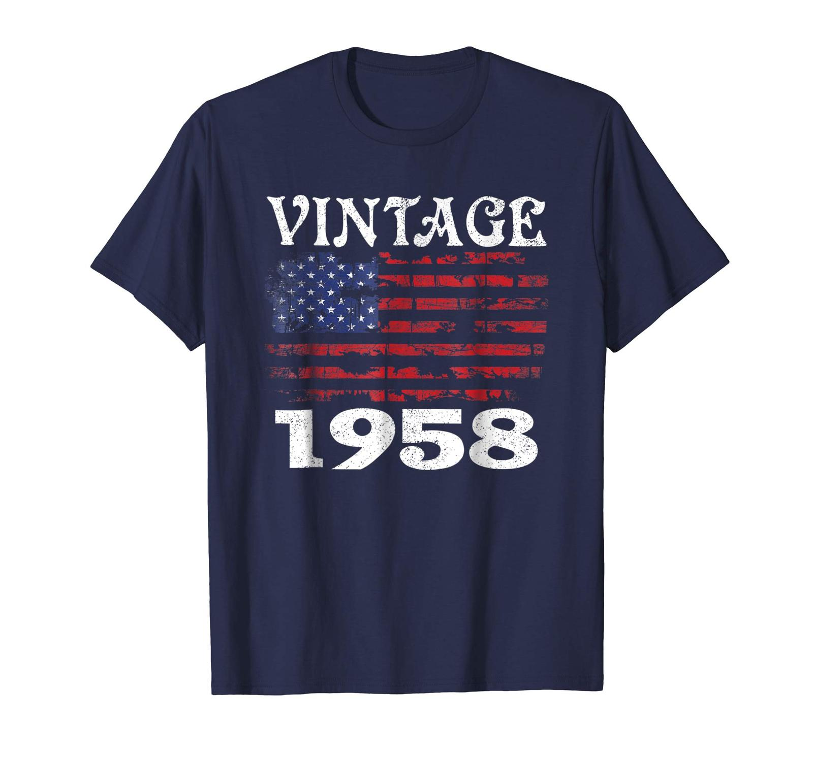 Primary image for Brother Shirts - 60th Birthday Gifts Vintage 1958 American USA Flag Patriot Men