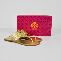 NIB Tory Burch Roselle Metallic Cutout Thong Sandals Shoes GOLD Wedding ... - $189.99