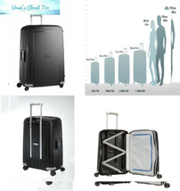 Samsonite S'Cure Hardside Checked Luggage with Spinner Wheels, 30 Inch, Black - $326.87