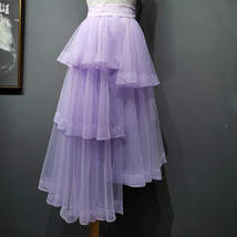 High Waist Hi-lo Layered Tulle Skirt Outfit Plus Size Wedding Outfit Bridesmaid image 1
