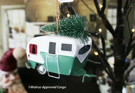 POTTERY BARN TIN CAMPER W/ TREE ORNAMENT -NWT- HANG WITH SOME OUTDOOR NO... - $24.95