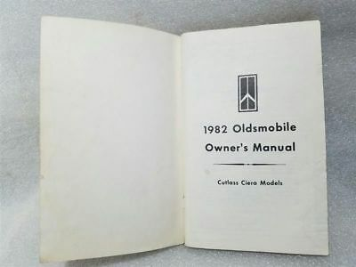 OLDS OMEGA CUTLASS CIERA 1982 Owners Manual 14885