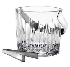 Reed & Barton Hamilton Ice Bucket with Handle & Tongs Crystal/Stainless ... - $1.997,52 MXN