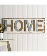 Country Farmhouse new large wood/metal HOME wall sign - $76.32