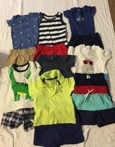 Lot Of 14 Baby Boys Size 9 Months Multi-Color Multi-Items Summer Outfits... - $13.36