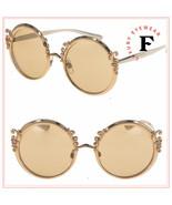 DOLCE & GABBANA Baroque Volutes 2177 Copper Silver Metal Round Sunglasse... - $274.23