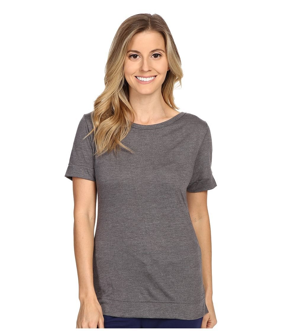 Primary image for Calvin Klein Liquid Lounge Short Sleeve Knit Top in Grey Heather, XS