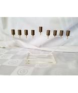 Lucite Menorah with Brass Candle Inserts Hanukkah Mid Century Acrylic - $56.95