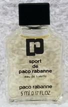 Paco Rabanne SPORT DE PACO RABANNE Eau De Toilette EDT Men .17 oz/5mL Ne... - $49.49
