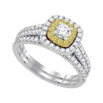 14kt White Gold Round Diamond Bridal Wedding Engagement Ring Band Set 1.00 Ctw - $1,799.00