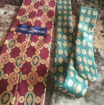 Vintage Tommy Hilfiger Men's Vintage Neck Tie Burgundy Maroon pattern  - $9.90