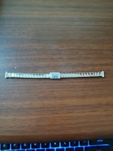 vintage 9MM Bellavance white gold filled expanding stretchy watch strap - $21.78