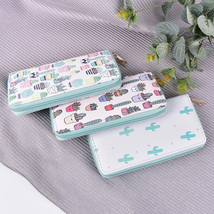 Cute 1PCS Cactus Plant Printing Women Summer Long Wallet PU Leather Phon... - $21.00