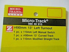 Micro-Trains Micro-Track # 99040910 Turnout Left Hand R490mm 13 Degree Z-Scale image 2