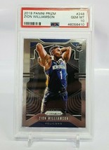 2019-20 Panini Prizm Base #248 Zion Williamson Pelicans Rookie PSA 10 GE... - $1,016.50