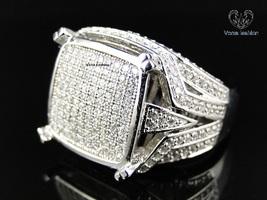 VVS1 Diamond White Gold Fn. 925 Silver Men's Engagement Wedding Pinky Band Ring - £146.57 GBP
