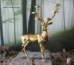 POTTERY BARN STAG VOTIVE HOLDER (STANDING) -NIB- SHINE SOME LIGHT ON STYLE! - $149.95