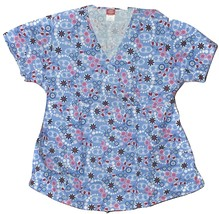"Dickies Mock Wrap, Tie Back, V Neck Scrub Top ""Tulip"" Large NWT - $19.99"