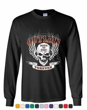 Outlaw Forever Long Sleeve Tee Born to Ride MC Chopper - $12.11+