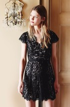 NEW AUTH Joie $348 Sloane Lace Dress, Caviar with Nude Lining, SZ 00, 0 - $89.97
