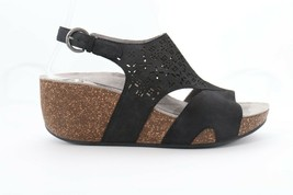 Abeo Unify Sandals Wedges  Black  Women's Size US 6 Neutral  Footbed = - $70.00