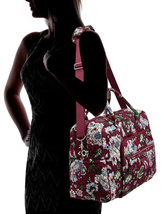 Vera Bradley Signature Cotton Iconic Weekender Bag, Bordeaux Blooms image 2