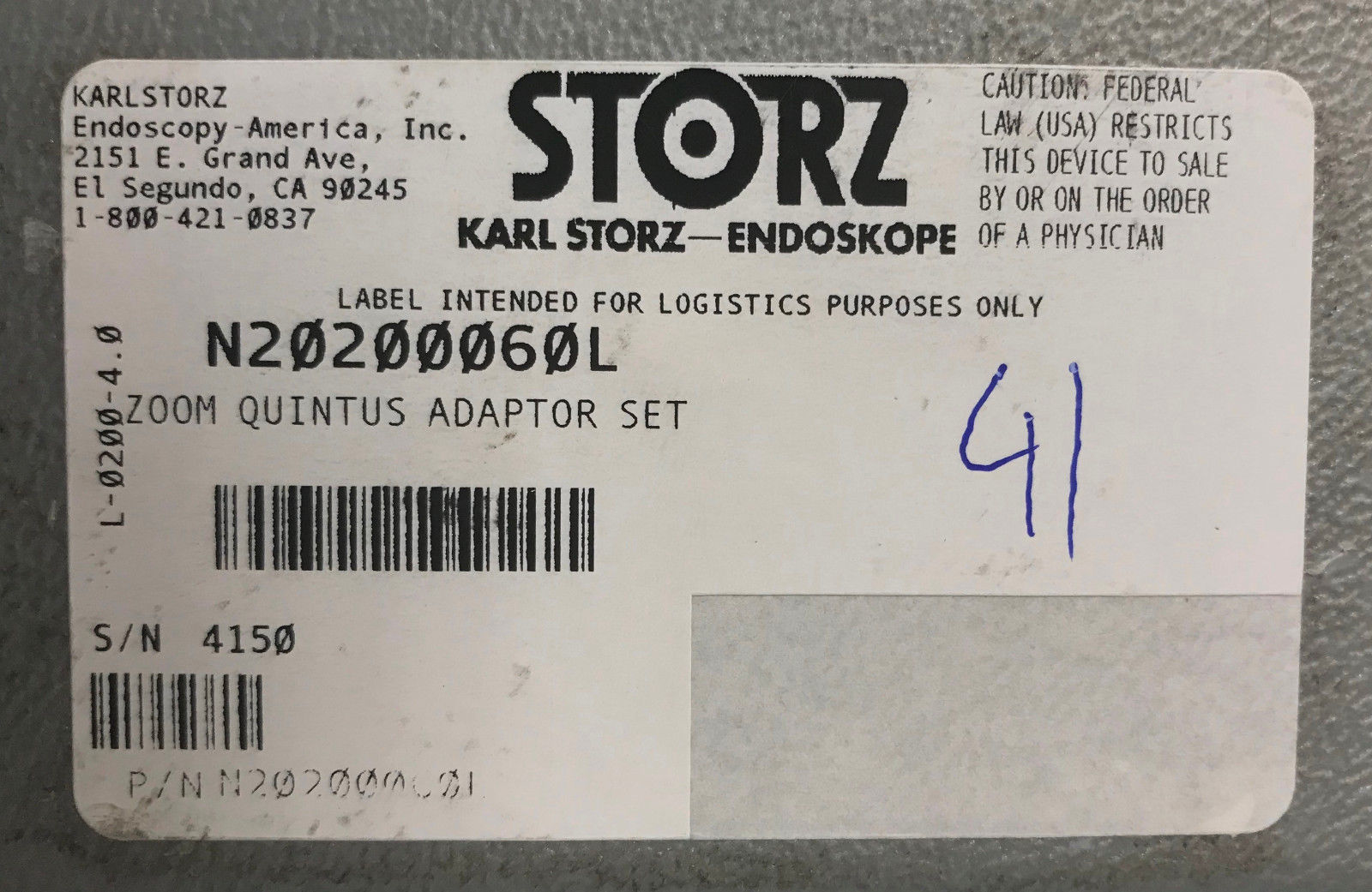 Karl Storz Zoom Quintus Adapter Set and 13 similar items