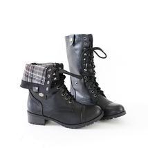 oralee black combat boots - £24.35 GBP