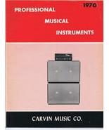 ORIGINAL Vintage 1970 Carvin Professional Music Instruments Catalog - $29.69