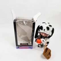 "Halloween Motionette 13"" Illuminated Animated Kid Dressed As Dalmation Dog - $29.69"