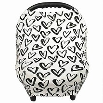Gufix Infant Car Seat Cover, The Stretchy Nursing Scarf, Car Seat Canopy... - $15.73
