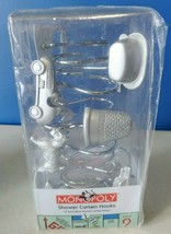 12 Decorative Monopoly Shower Curtain Hooks. Hasbro. New never been opened - $12.99