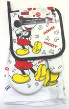 Disney Mickey Mouse Classic Pieces Parts Kitchen Towel Set 3 Piece Brand... - $14.69