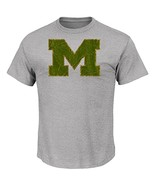NCAA Michigan Wolverines Men's Laid Out Tee, Steel Heather, XX-Large - $19.95