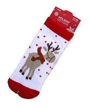 Set of 4 Christmas Theme Baby Socks Lovely Elk Cotton Winter Baby Socks S