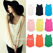 Pink, Black, White Ladies Sleeveless Loose Fitting Camisole Tops Austral... - $14.99