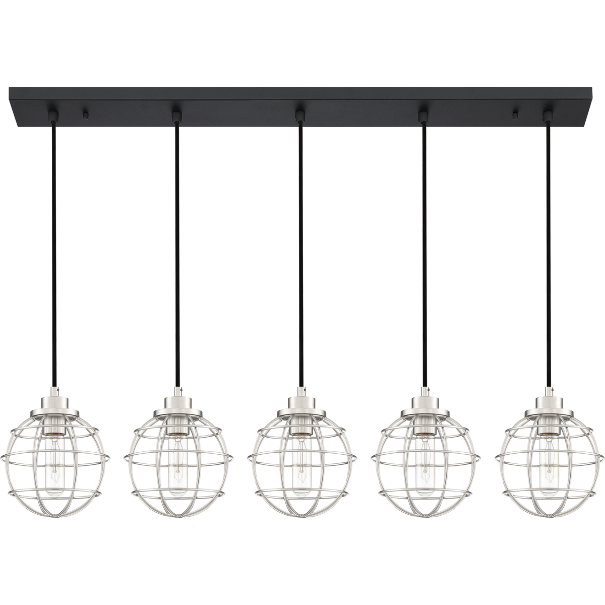 Primary image for Navigator 5-Light Linear Chandelier in Earth Black